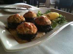 Stuffed Mushrooms at the River Winds Restaurant