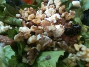 Escarole Salad with Warm Pancetta Dressing