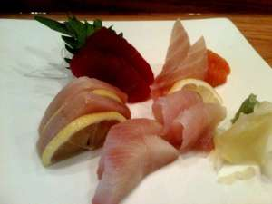 Lunch sashimi at Numa in Philadelphia, Pennsylvania.
