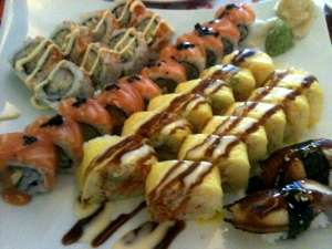 An assortment of sushi maki rolls from Eastern Garden Restaurant in Sussex, New Jersey