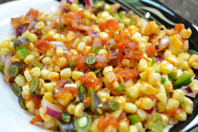 Corn and Roasted Tomato Salsa