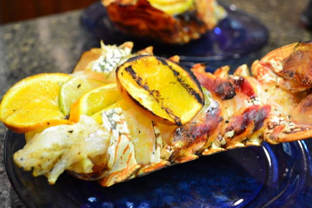 Citrus-grilled lobster tails