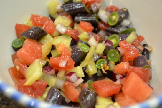 Tomato and Purple Bean Salsa