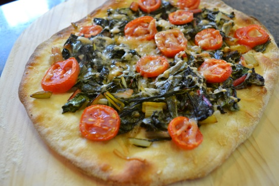 Rainbow Chard Pizza