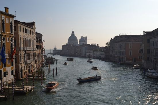A view of Venice from the Accademia Bridge