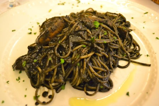 Spaghetti with Cuttlefish in Its Own Ink