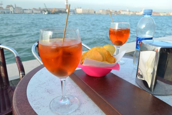 Enjoying a spritz on Giudecca
