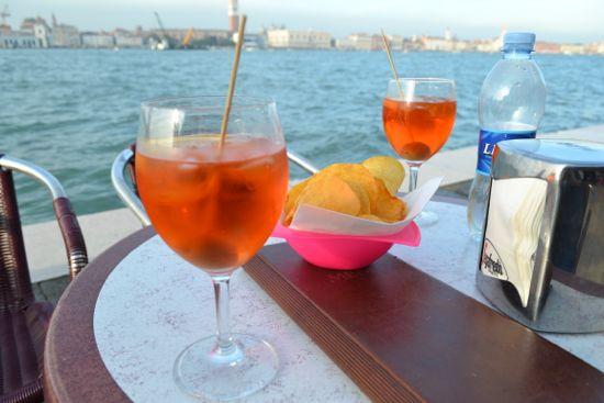 Enjoying a spritz on Giudecca