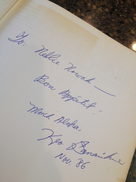 One of my grandmother's signed cookbooks...
