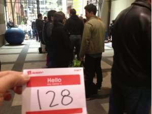 In line at the MasterChef open call, New York City