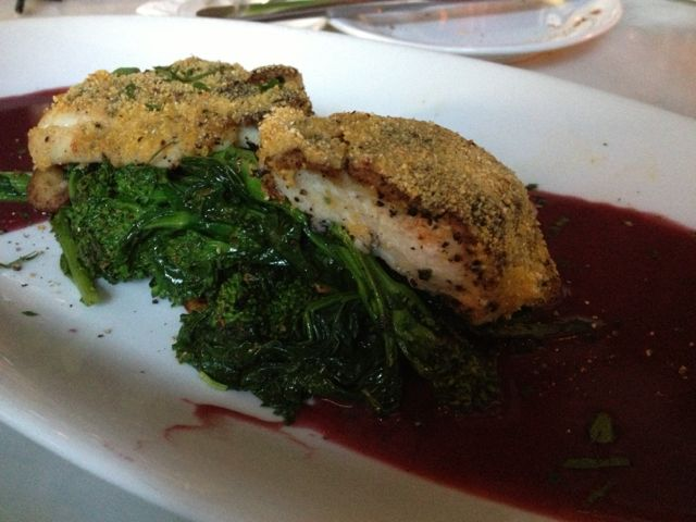 Sea Bass with Red Wine Reduction
