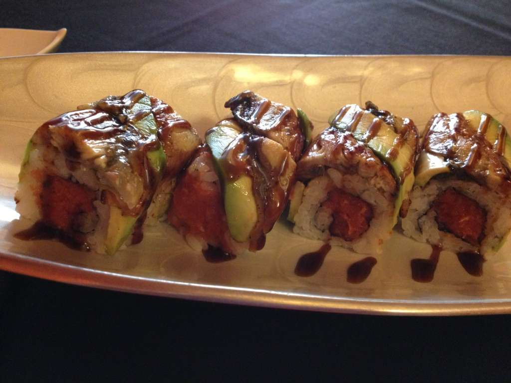 Fire Dragon Roll at Kidari Sushi Yatai