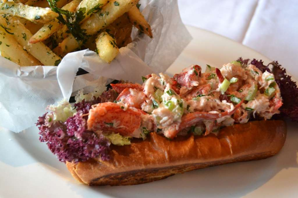 Lobster Roll with Parmesan Truffle Fries