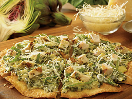 Outback Steakhouse Chicken Artichoke Flatbread