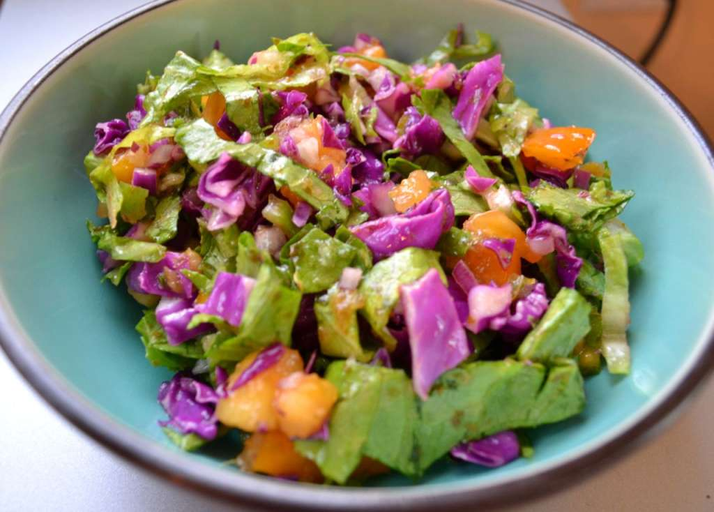Salad with Toasted guajillo chile dressing