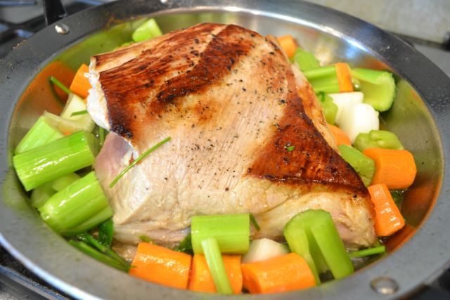 veal breast with vegetables