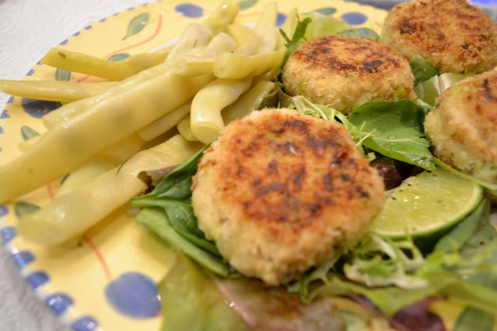 Pan-fried smoked trout cakes
