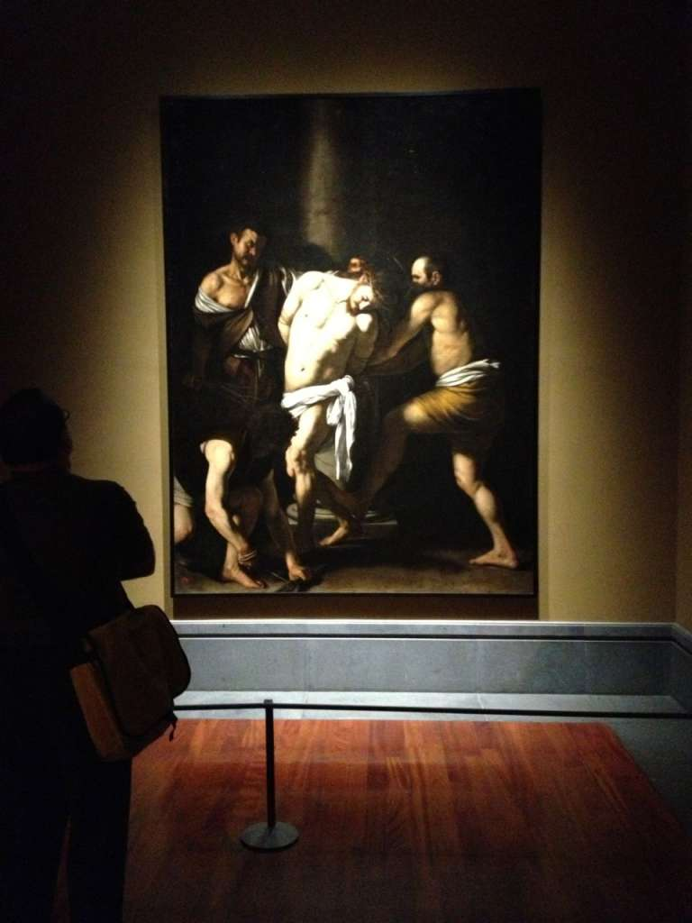"Caravaggio's ""Flagellation of Christ""."