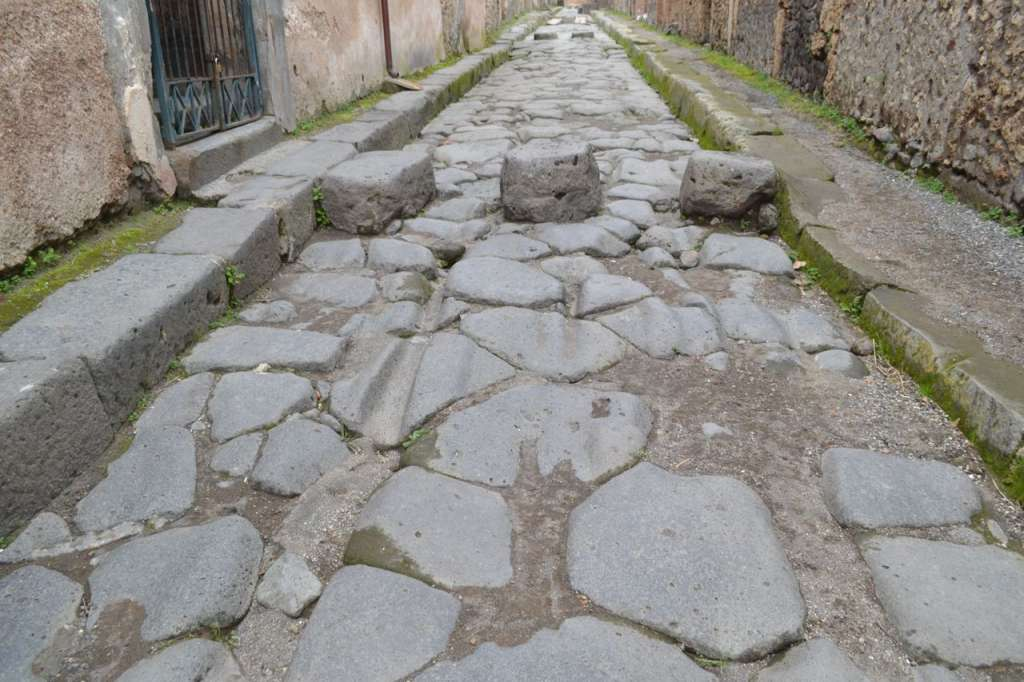 An ancient road - notice the worn grooves from chariot wheels.