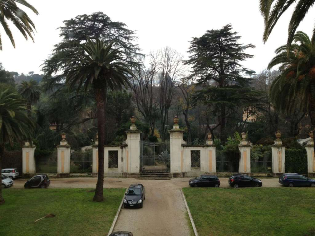 The view of the gardens behind Palazzo Corsini