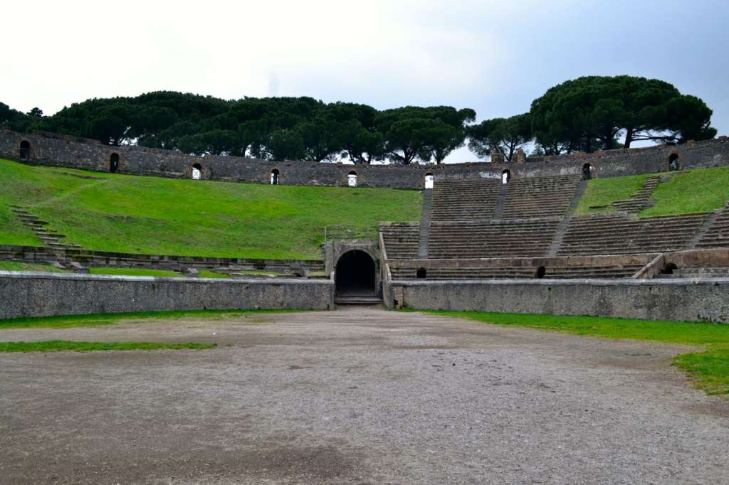 Inside the Pompeii amphitheater