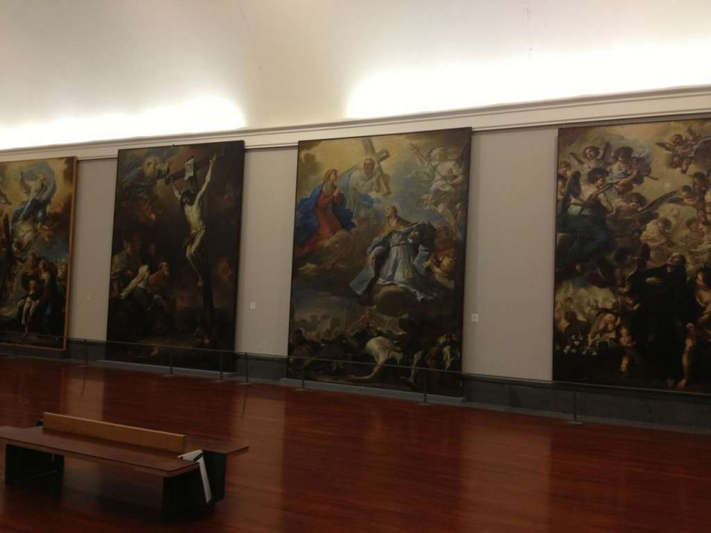 Some of the museum's impressive collection of paintings by Luca Giordano.