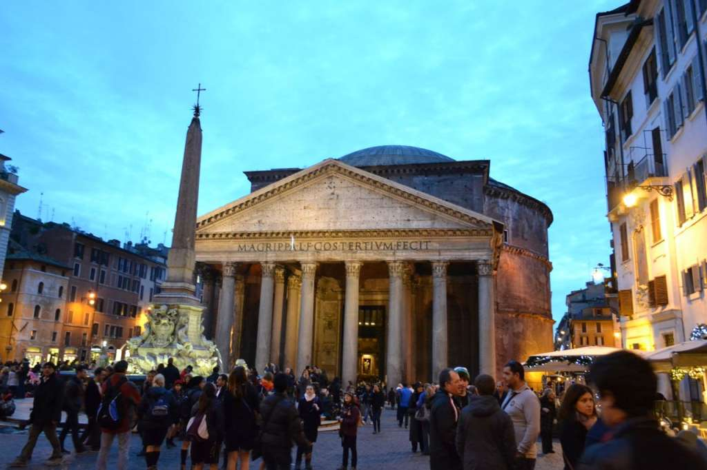 pantheon at dusk
