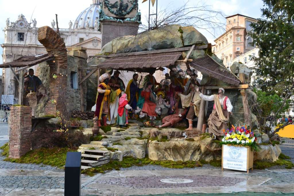 The presepe in St. Peter's Square