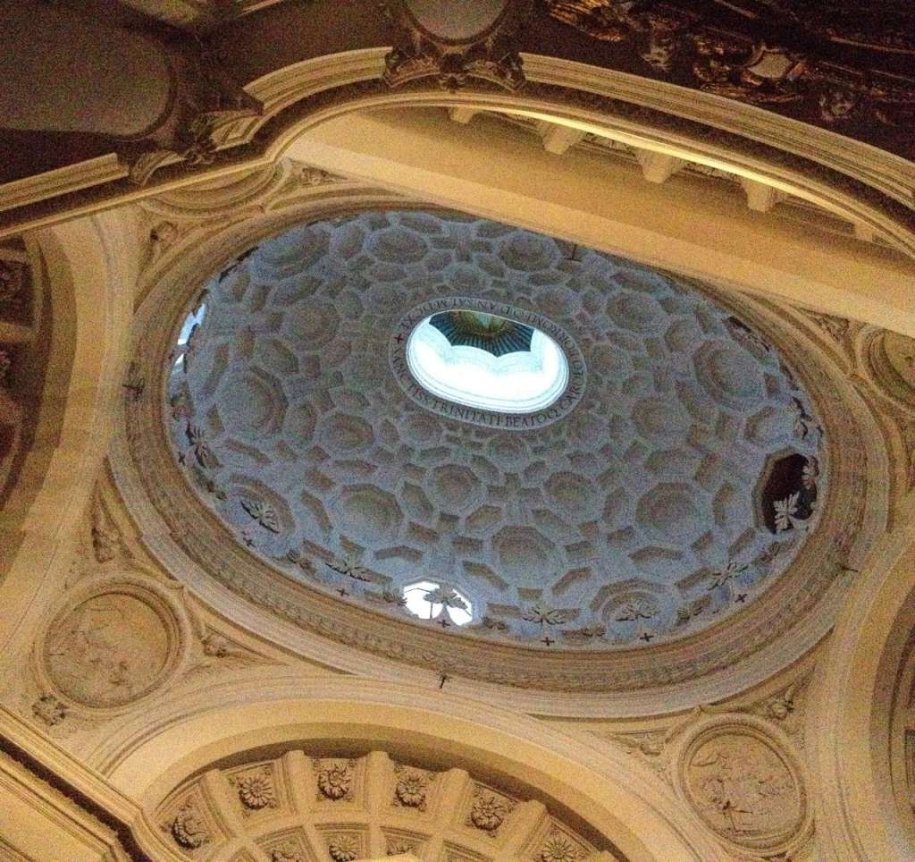 The dizzying dome of San Carlo alle Quattro Fontane