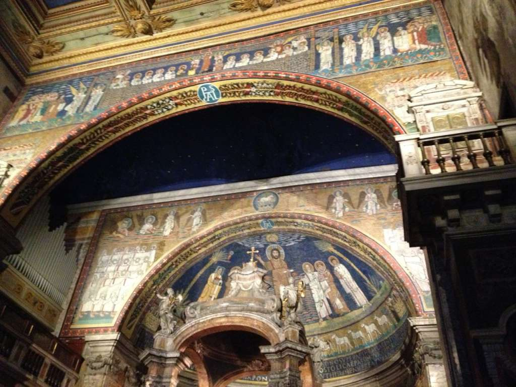The beautiful mosaics inside Santa Prassede