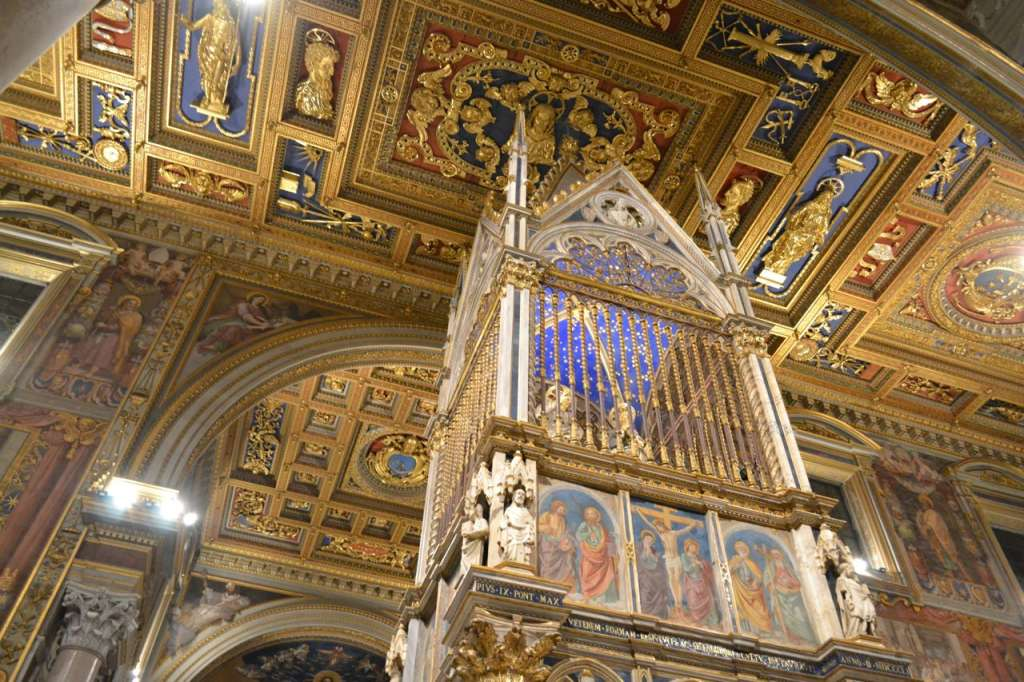 The beautiful gothic baldacchino in St. John Lateran