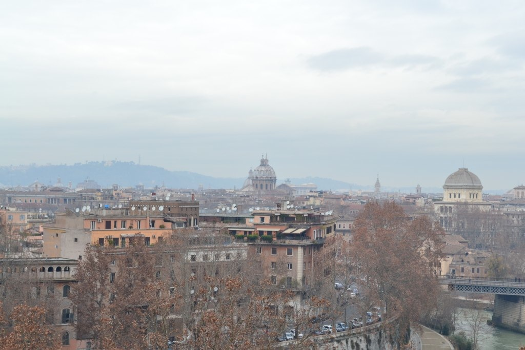 Taking in the view from Aventine Hill