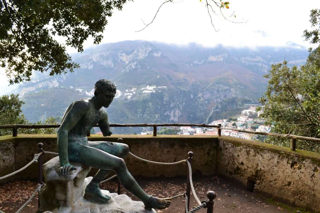 In the gardens of Villa Cimbrone.