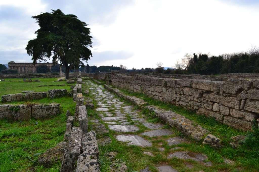 Roman ruins in Paestum