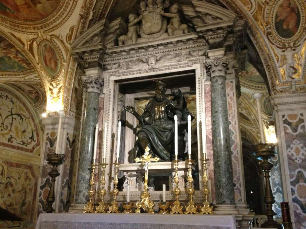 The crypt at the Salerno Cathedral.