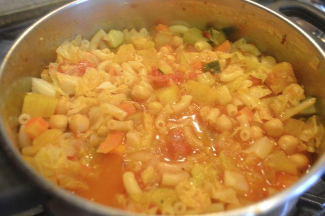 Add the pasta.