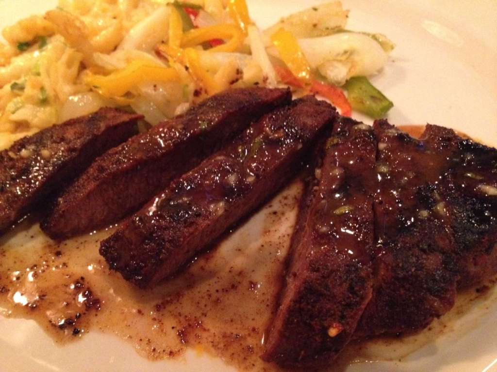 Red Chile Rubbed Flat Iron Steak