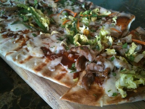 XIX flatbread with duck and hoisin sauce