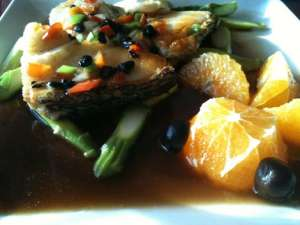 Sea Bass in Black Bean Sauce