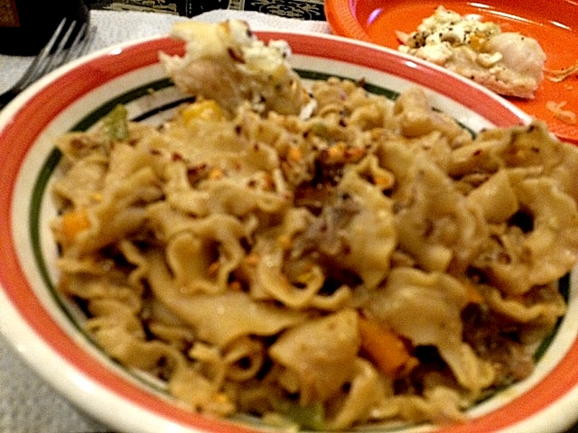 campanelle cooked