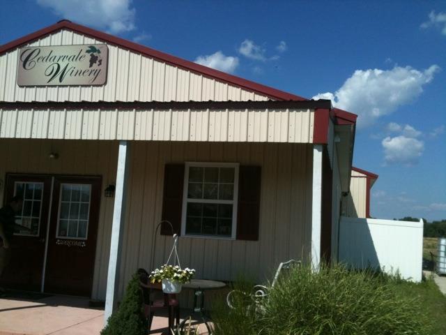 The Tasting Room at Cedarvale Winerery.