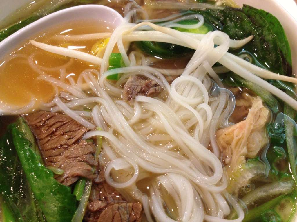 Pho with flank steak