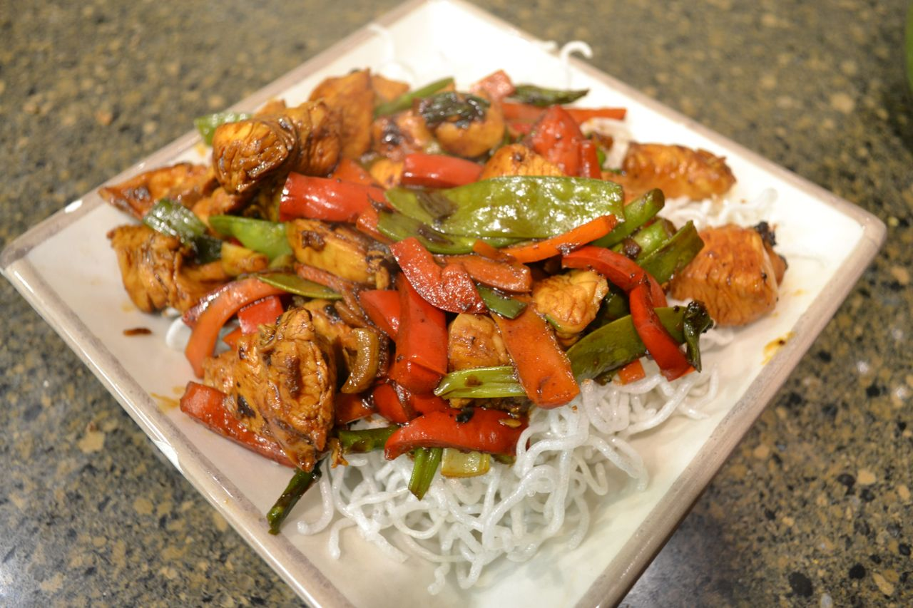 Stir Fried Chicken With Crispy Rice Vermicelli South Jersey Foodie