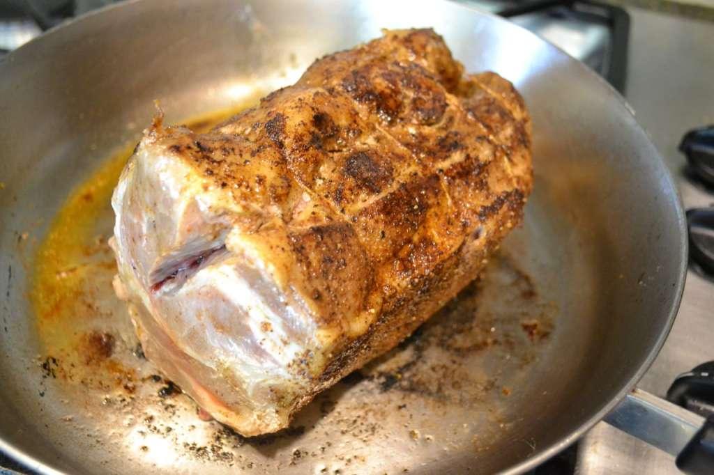 Searing the roast