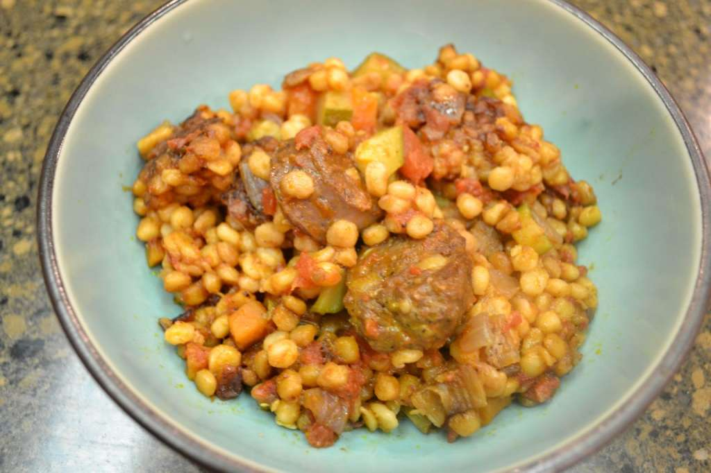 Italian Sausage and Fregula Stew